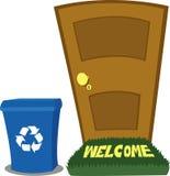 Porta e escaninho de recicl ilustração do vetor