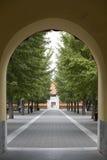 Porta e estrada do arco Imagem de Stock Royalty Free