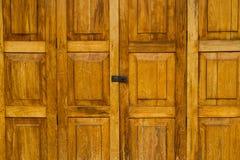 Porta e fermo di legno Fotografia Stock