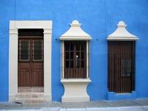 Porta e finestra colorate nel Messico Fotografia Stock Libera da Diritti