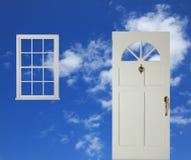 Porta e indicador ilustração stock