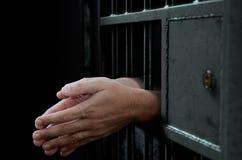 Porta e mãos da pilha de cadeia Imagem de Stock Royalty Free