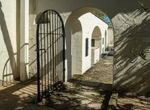 Porta e pátio, Monterey, Califórnia Fotografia de Stock