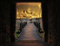Porta e ponte do forte velho Imagem de Stock Royalty Free