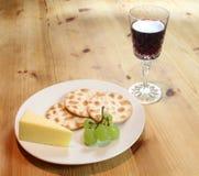 Porta e queijo Foto de Stock Royalty Free
