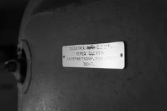 Porta e targhetta Fotografia Stock Libera da Diritti