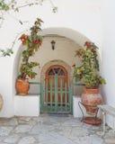 Porta e vasi da fiori della Camera Fotografia Stock