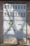 Porta elettrica della sottostazione del vecchio metallo Fotografia Stock Libera da Diritti