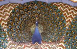 Porta em Chandra Mahal, palácio do pavão da cidade de Jaipur Imagens de Stock