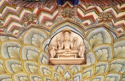 Porta em Chandra Mahal, palácio do pavão da cidade de Jaipur Imagem de Stock
