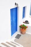 Porta em Oia, Santorini Fotografia de Stock