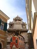 Porta em Rovinj, Croatia imagem de stock
