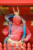 porta em Taiyuinbyo - o mausoléu de NIO-segunda-feira de Tokugawa Iemitsu em Nikko fotos de stock royalty free