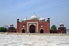 Porta em Taj Mahal Imagens de Stock