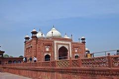 Porta em Taj Mahal na Índia Foto de Stock