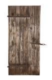 Porta estável rústica de madeira velha isolada foto de stock
