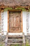 Porta fatta di legno Immagini Stock Libere da Diritti