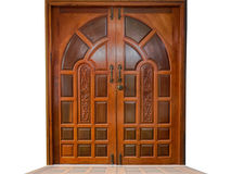 Porta fatta di legno Fotografie Stock