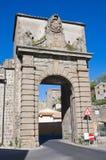 Porta Faul. Viterbo. Lazio. Italy. Perspective of the Porta Faul. Viterbo. Lazio. Italy royalty free stock photo