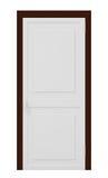 Porta fechada isolada no branco Fotografia de Stock