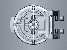 Porta fechado do cofre-forte de banco Imagens de Stock
