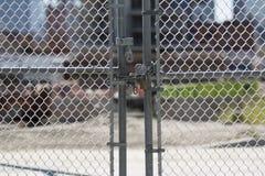 Porta fechado no canteiro de obras Foto de Stock