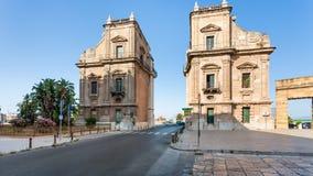 Porta Felice baroque triumphal gateway in Palermo Stock Photo