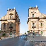Porta Felice gate on via Cassaro in Palermo city Royalty Free Stock Photo