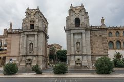 The Porta Felice is main gate of Palermo in Sicily. Italy Royalty Free Stock Images