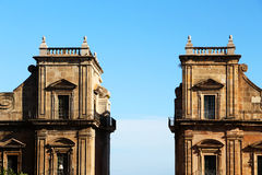 Porta Felice, in Palermo, gegen den Himmel Lizenzfreie Stockfotos