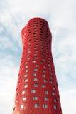 Porta Fira tower Stock Photo