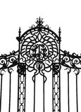 Porta forjada do ferro Imagens de Stock Royalty Free