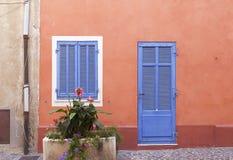 Porta francesa e indicador Fotografia de Stock
