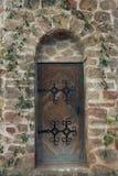 Porta gótico velha Fotos de Stock Royalty Free