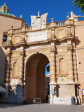 Porta Garibaldi, Marsala, Сицилия, Италия Стоковое фото RF