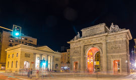 Porta Garibaldi in Milan, Italy Stock Photography