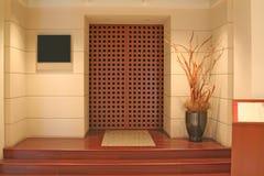 Porta generica dell'entrata in qualche luogo a d'avanguardia Fotografia Stock
