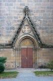 Porta gotica Fotografie Stock Libere da Diritti