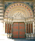 Porta grande da igreja Foto de Stock