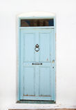 Porta greca tradizionale sull'isola di Mykonos Immagine Stock Libera da Diritti