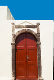 Porta greca tradizionale sull'isola di Santori Immagini Stock Libere da Diritti