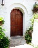 Porta grega tradicional da casa Imagens de Stock Royalty Free