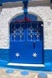 Porta histórica azul Imagens de Stock Royalty Free