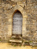 Porta incurvata medievale immagine stock libera da diritti