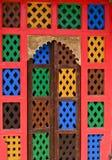 Porta indiana do jharokha da janela do forte Imagens de Stock