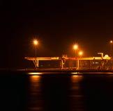 A porta industrial na noite Imagens de Stock Royalty Free