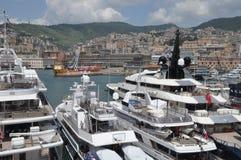 Porta Italia di Genova l'esposizione dell'yacht fotografia stock libera da diritti