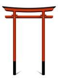 Porta japonesa ilustração stock