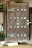 Porta japonesa do templo Foto de Stock