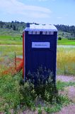 Porta John, draagbaar toilet Royalty-vrije Stock Foto